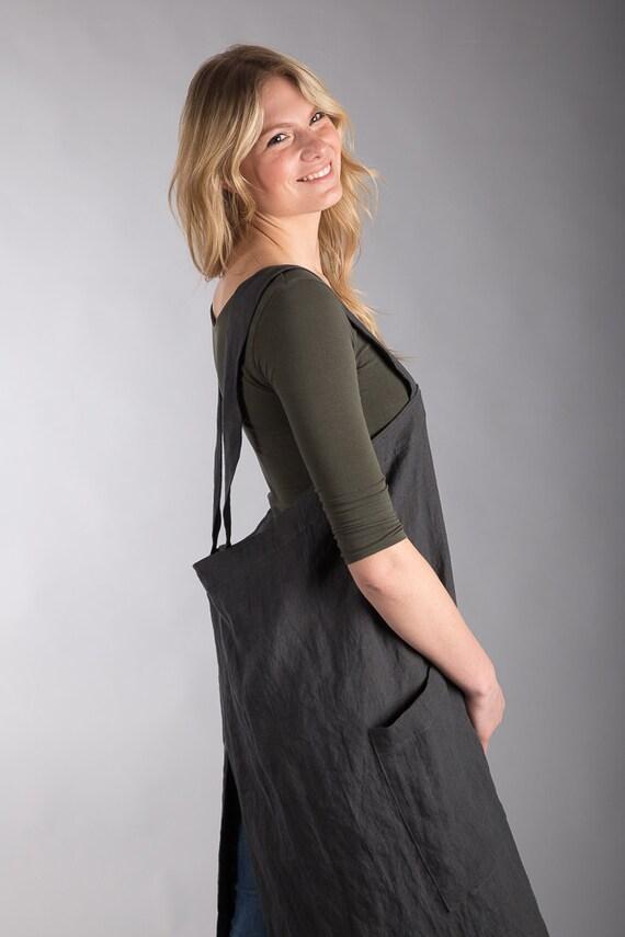 blouse de artiste tablier japonais jardinier global lin. Black Bedroom Furniture Sets. Home Design Ideas