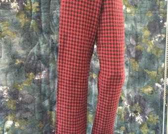 BJD SD red/black flannel Pajammas