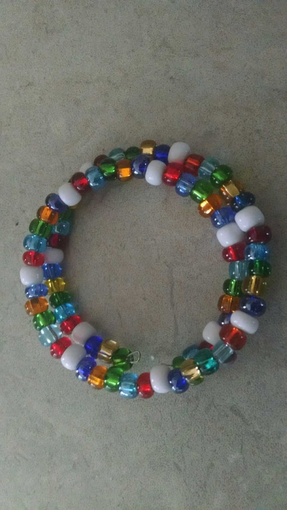 multi colored beaded bracelet by newpennies on etsy
