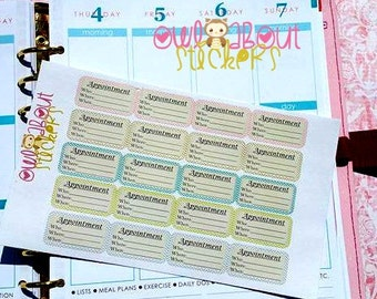 Appointment Planner Stickers G002