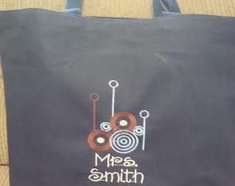 Personalized Circles Design Messenger Bag