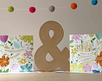 Engagement and Wedding Card Pack with Stickers