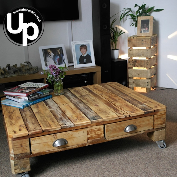 Diy Shabby Chic Coffee Table: Shabby Chic Pallet Coffee Table Retro Coffee By