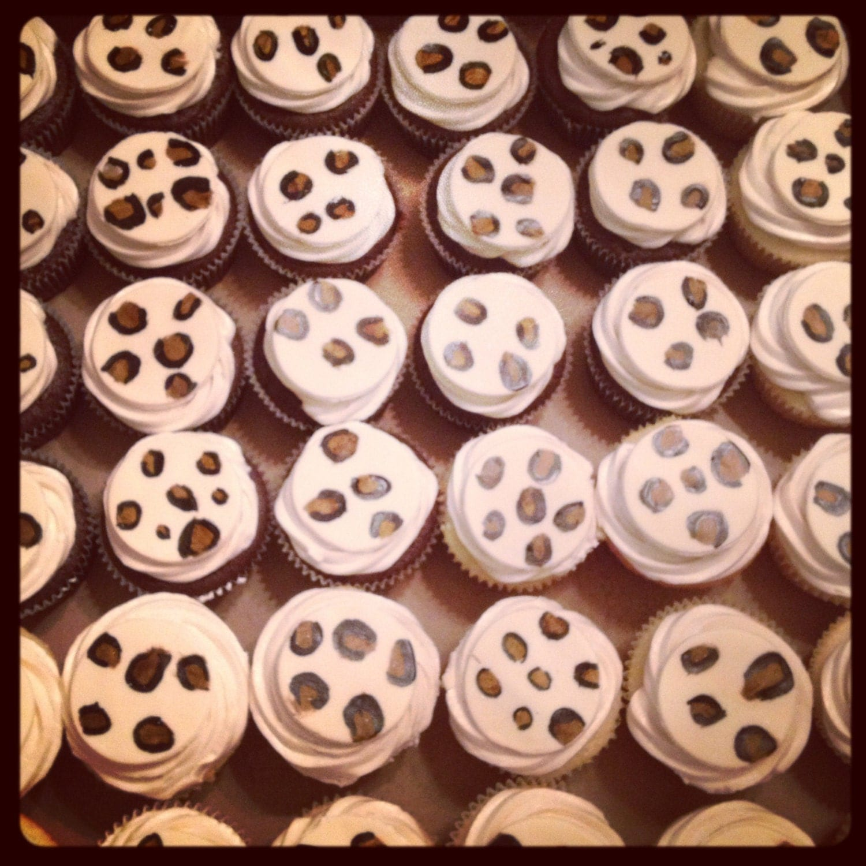 Edible Cheetah Fondant Cupcake Toppers