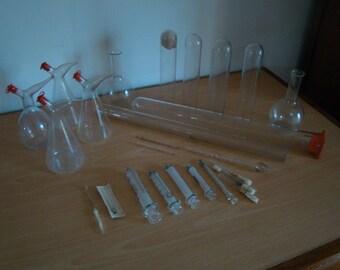 Batch of medical equipment glass
