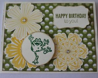 Happy Birthday Frog Card