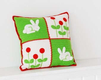 "Decorative Pillow ""Bunnies"""