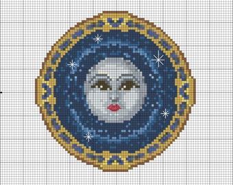"""The Happy Moon, 5""""x5"""""""