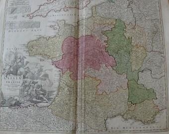 Carte de France par J.B Homann - 1720
