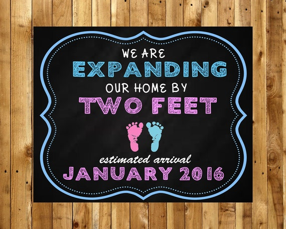 Pregnancy Announcement Printable Chalkboard File