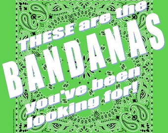 BANDANA - Bandanna. Premium Paisley Hav-A-Hank Bandana. LIME Green. Made in the USA.