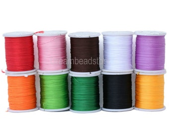 5 Spools Jewelry Cord, Macrame Cord, Jewelry Making Thread Without Elasticity