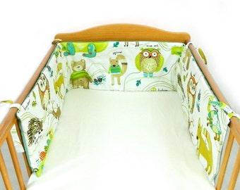 Woodland cot bumper