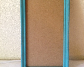 Caribbean Blue Shabby Chic Sea Shell Picture Frame