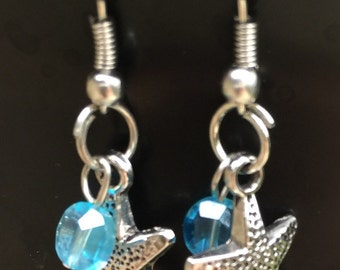 Starfish and light blue beads