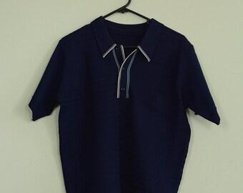 1950s Mens Shirt / Stretchy Shirt / Button Up Shirt / Collar Shirt