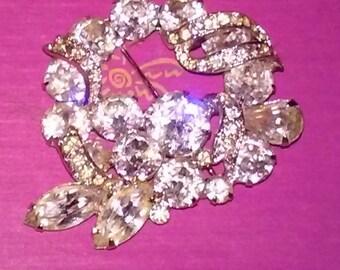 1950s Faux Diamond Broach