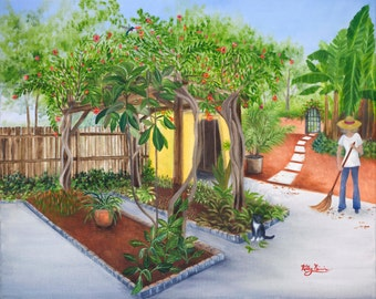 Backyard in Florida, Lorie and Bootsie
