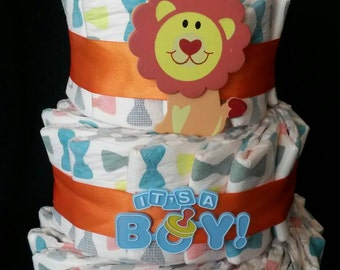 Boys Lion King diaper cake! Ready to ship now!
