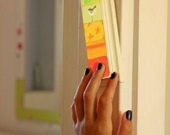 Hand Made Mezuzah Case  - Hand Painted custom Mezuzah Jewish Art - New Jewish couple gift - Customized Mezuzah case