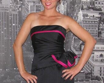 A.J. Bari Little Black Dress Vintage 1980s