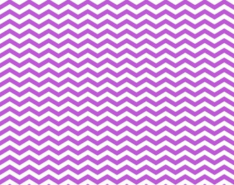 Classic Purple Chevron on White Cardstock Paper