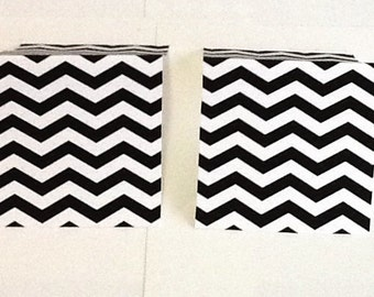 9 Black Chevron Mini Note Cards