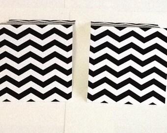 9 Black Chevron Mini Note Cards