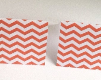 9 Orange Chevron Mini Note Cards