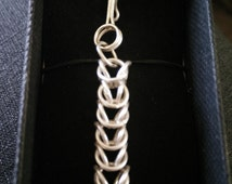 Hand Made Sterling Silver Byzantine Chain Bracelet
