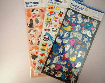 Cute Adorable Cartoon Stickers for Planning, Journalling and Scrapbooking! - CHOOSE ONE