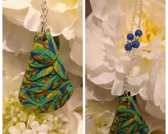 Fimo necklace in relief.
