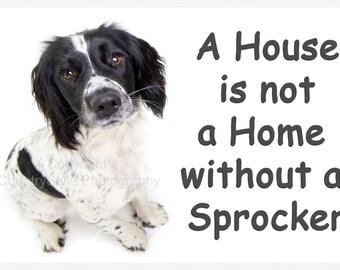 Sprocker Spaniel Dog Fridge Magnet Gift