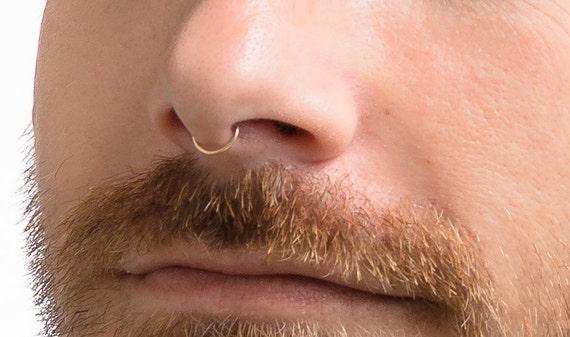 Faux Nose Septum Fake Nose Hoop Gold Septum Faux Septum