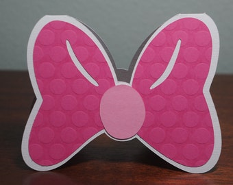 Bow Shaped Blank Note Card
