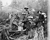 Vintage 1897 YUKON TRAIL PROSPECTORS - Alaska Gold Rush - Reprint Photograph in sizes 8x10 11x14 16x20 - Old Miner Photo Picture Print