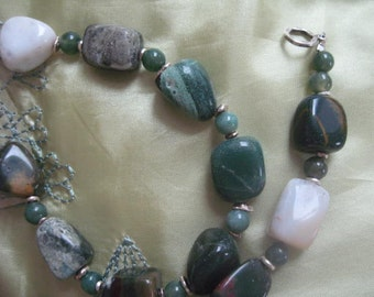 Ocean Agate Necklace