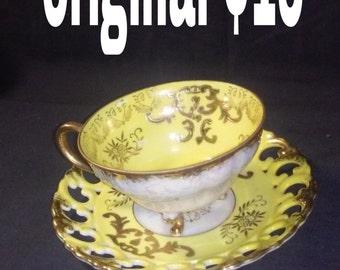 Original fine China tea cup and saucer