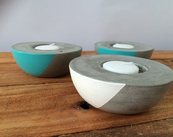 Concrete/cement candle holder  (set of 3)