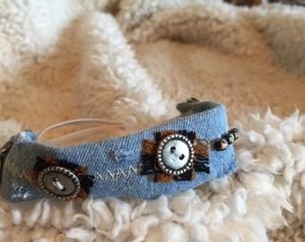 Denim Bracelet with Buttons