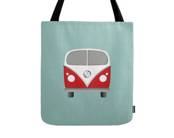 VW tote bag VW bag VW canvas tote bag summer canvas bag summer tote bag summer bag Volkswagen canvas tote blue canvas bag volkswagen tote