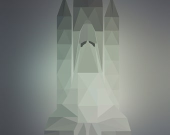 Low poly- Space shuttle poster