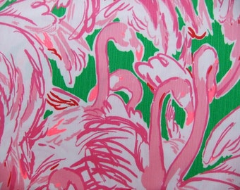 Lilly Pulitzer Fabric Pink Colony Cotton Dobby