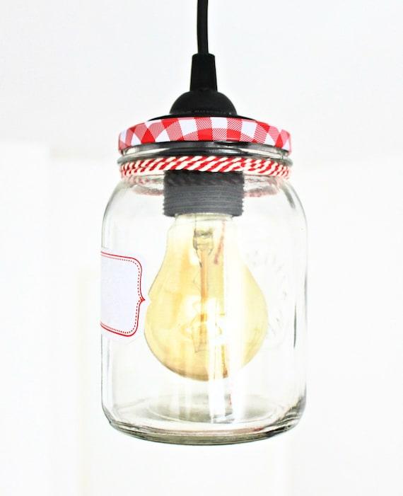 suspension lampe bocal en verre glass jar pendant by elightrick. Black Bedroom Furniture Sets. Home Design Ideas