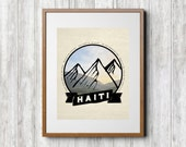 Haiti Print - Haiti Art - Missions Print - Scripture Print