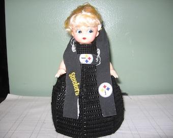 PIttsburgh Steelers Plastic Canvas Air Freshner Doll