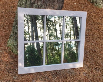 Faux Window Mirror, Home Decor, Wall Art