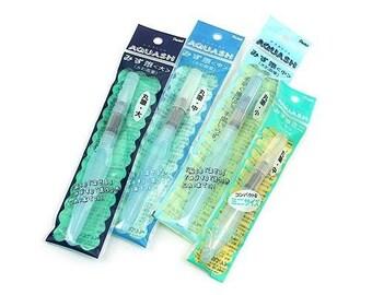 4X Pentel Aquash Water Brush-Broad/Medium/Fine point tip watercolor brush