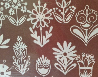 Funky Brown Floral Wrapping Paper