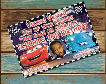Personalized Digital Invitations Cars